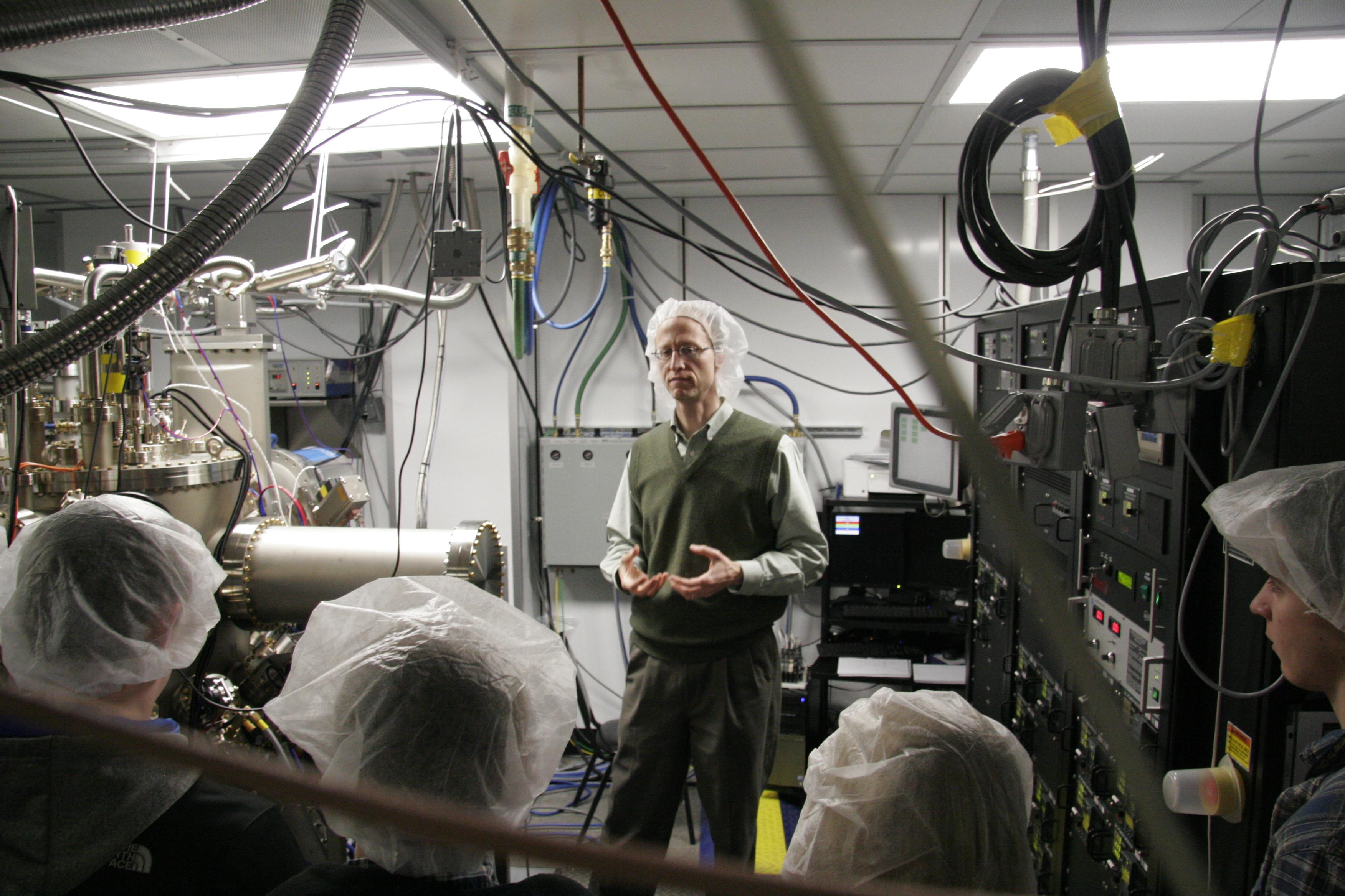 Student lab tour