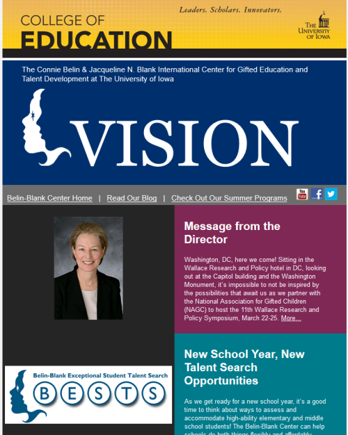 Back-to-school newsletter
