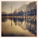 Beautiful shot of the Washington Monument from the University of Iowa College of Education Instagram account (http://instagram.com/uicollegeofed#).