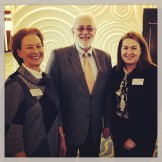 Belin-Blank Center Director Susan Assouline with Richard Duschl of the National Science Foundation and B-BC administrator Leslie Flynn. Photo courtesy of the University of Iowa College of Education Instagram account (http://instagram.com/uicollegeofed#).