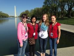 (left to right) Breanna Kramer, Aparna Ajjarapu, Karleigh Schilling, and Abby Walling.